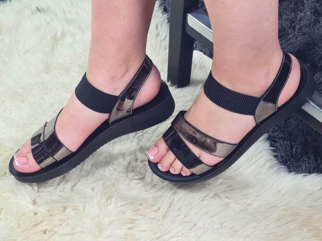 Sandale dama negru antracit Elma