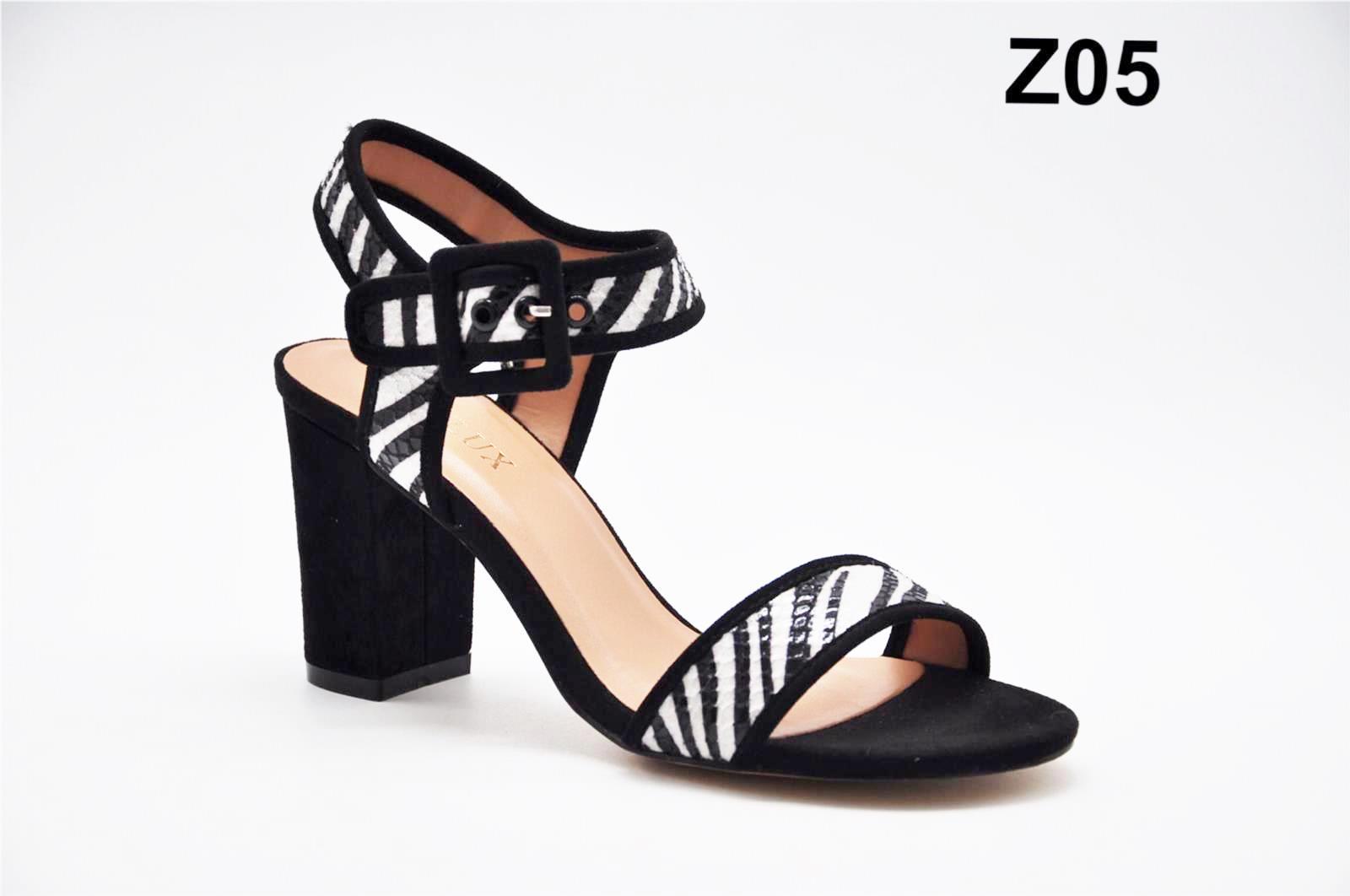 Sandale dama negru cu alb Laura