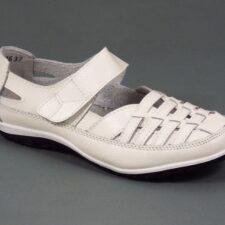 Sandale dama piele albe Sonya