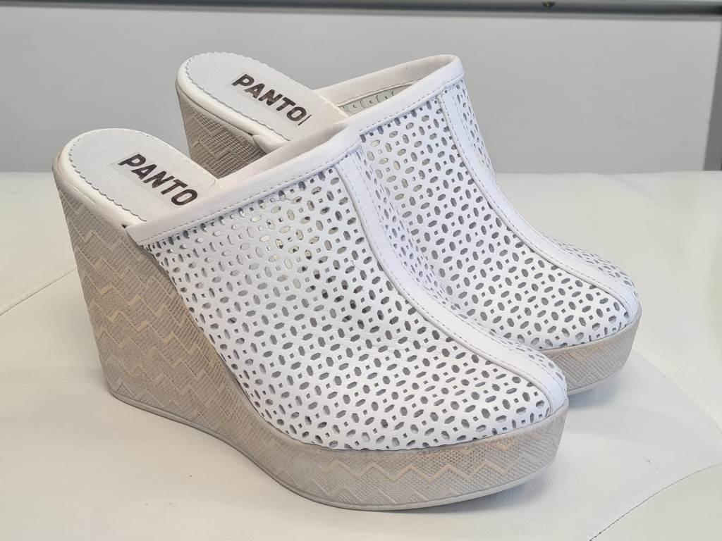 Sandale dama piele albe Zoia