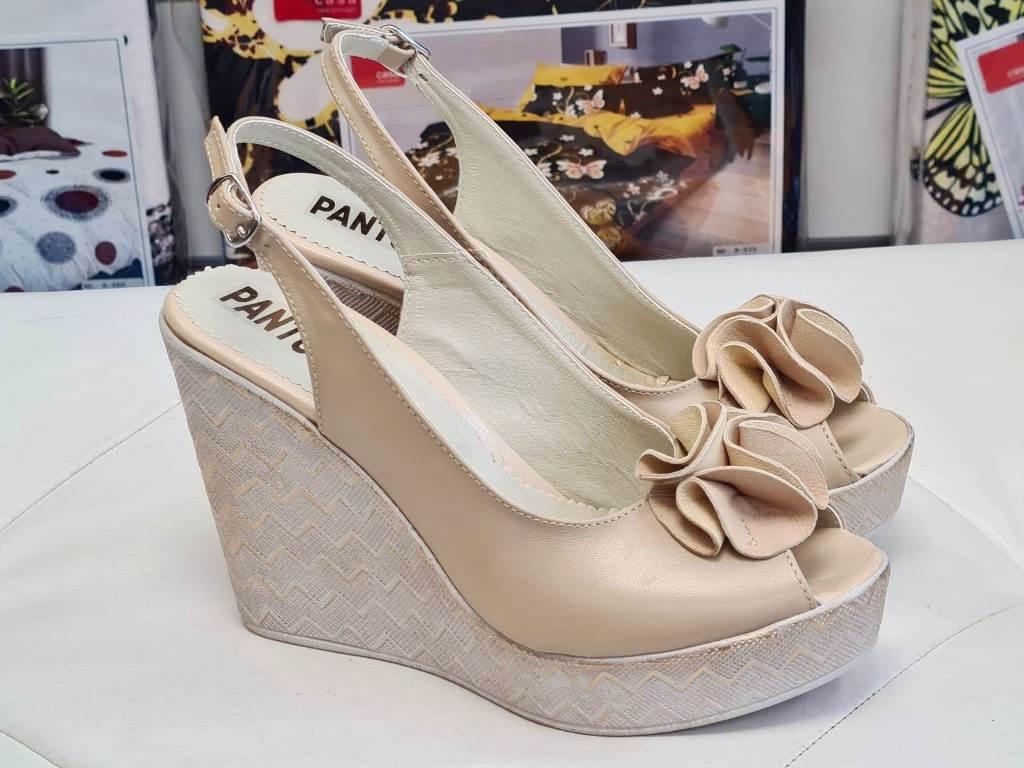 Sandale dama piele bej Ana2