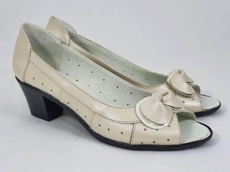 Sandale dama piele bej Anita2