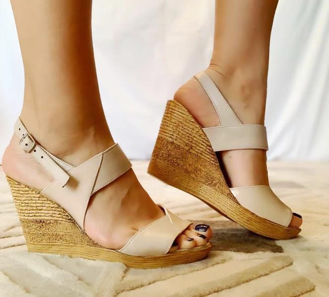 Sandale dama piele bej Daria