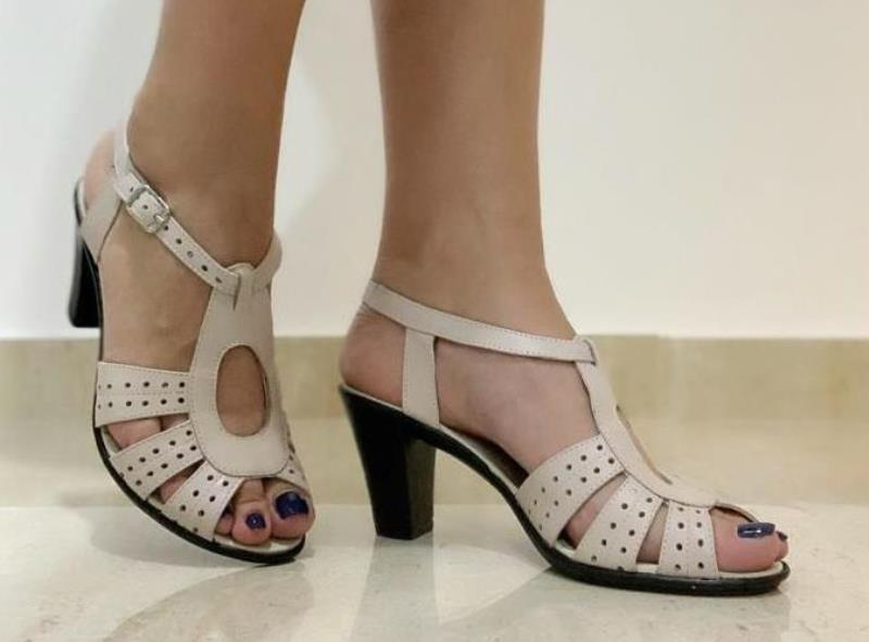 Sandale dama piele bej Doina