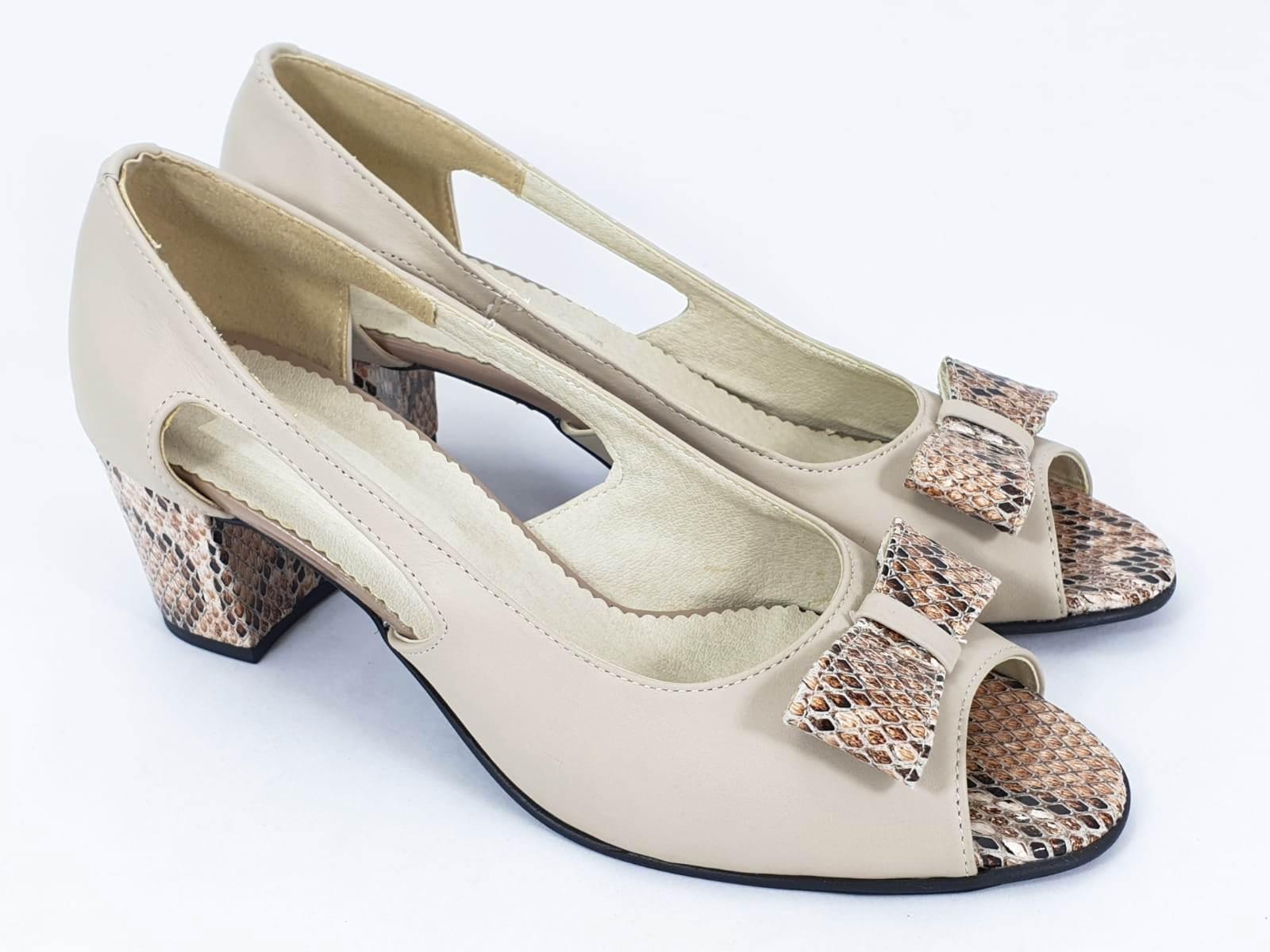 Sandale dama piele bej Ileana