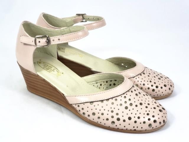 Sandale dama piele bej Leona