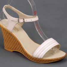 Sandale dama piele bej cu alb talpa ortopedica 8