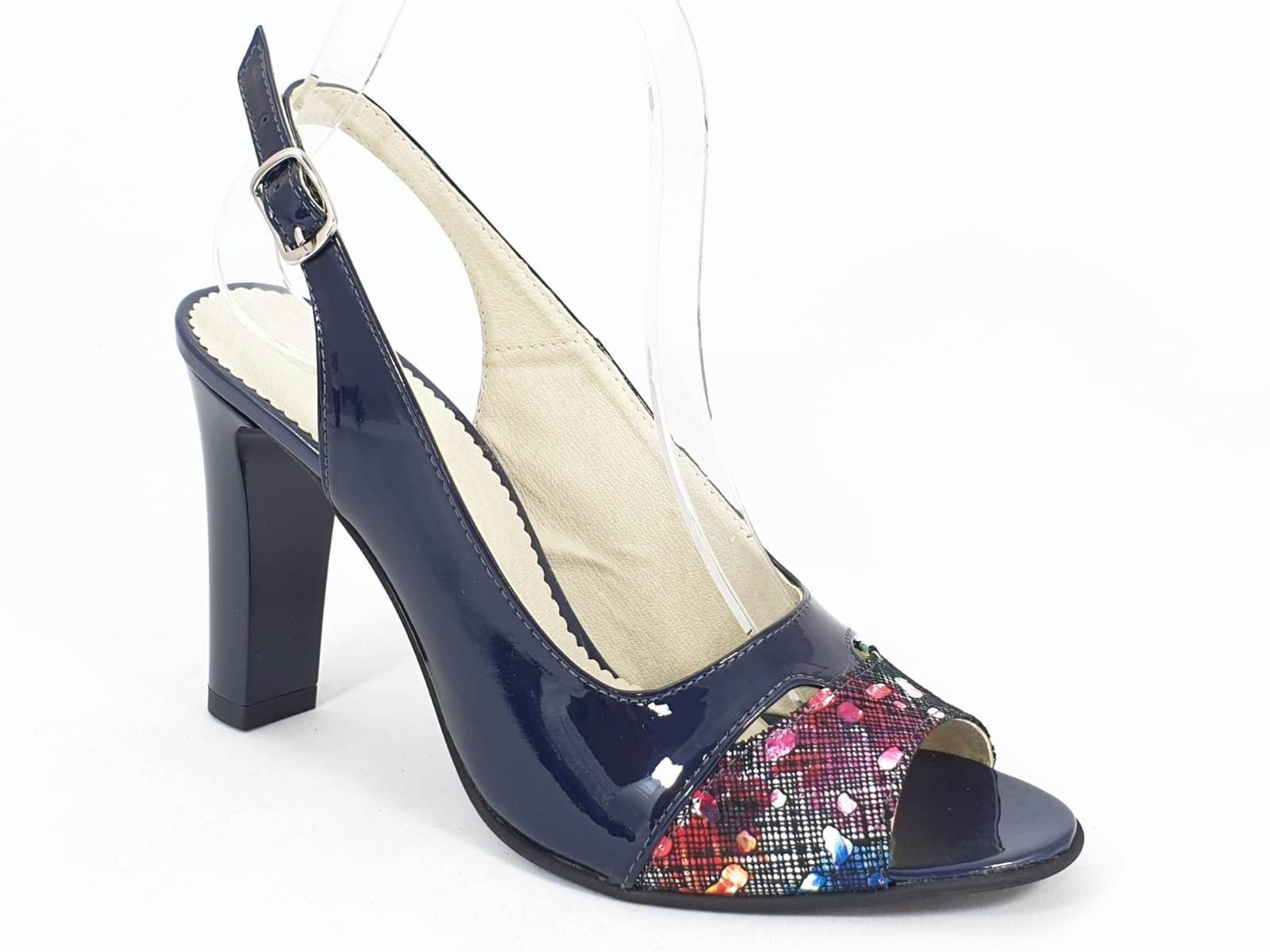 Sandale dama piele bleumarin Antonia