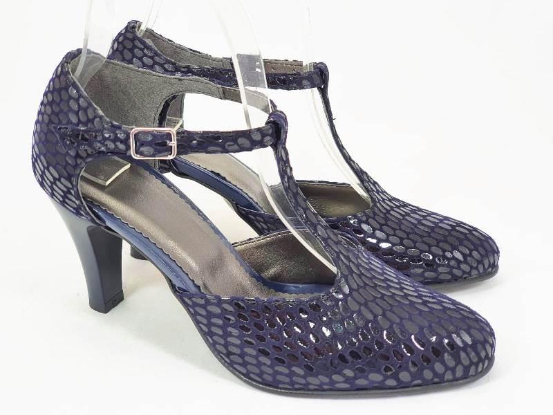 Sandale dama piele bleumarin Ligia