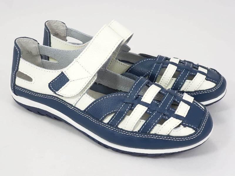 Sandale dama piele bleumarin Sonya