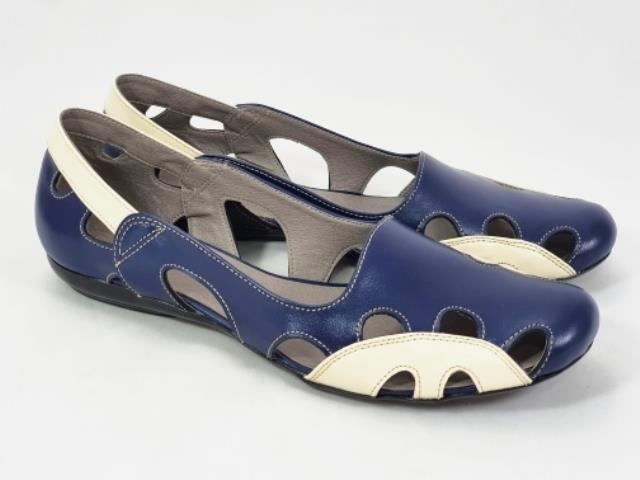 Sandale dama piele bleumarin cu bej Ana