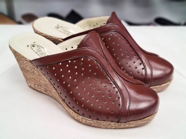 Sandale dama piele maro Valentina