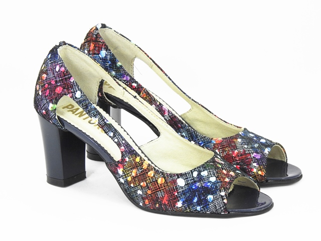 Sandale dama piele model floral Doyna