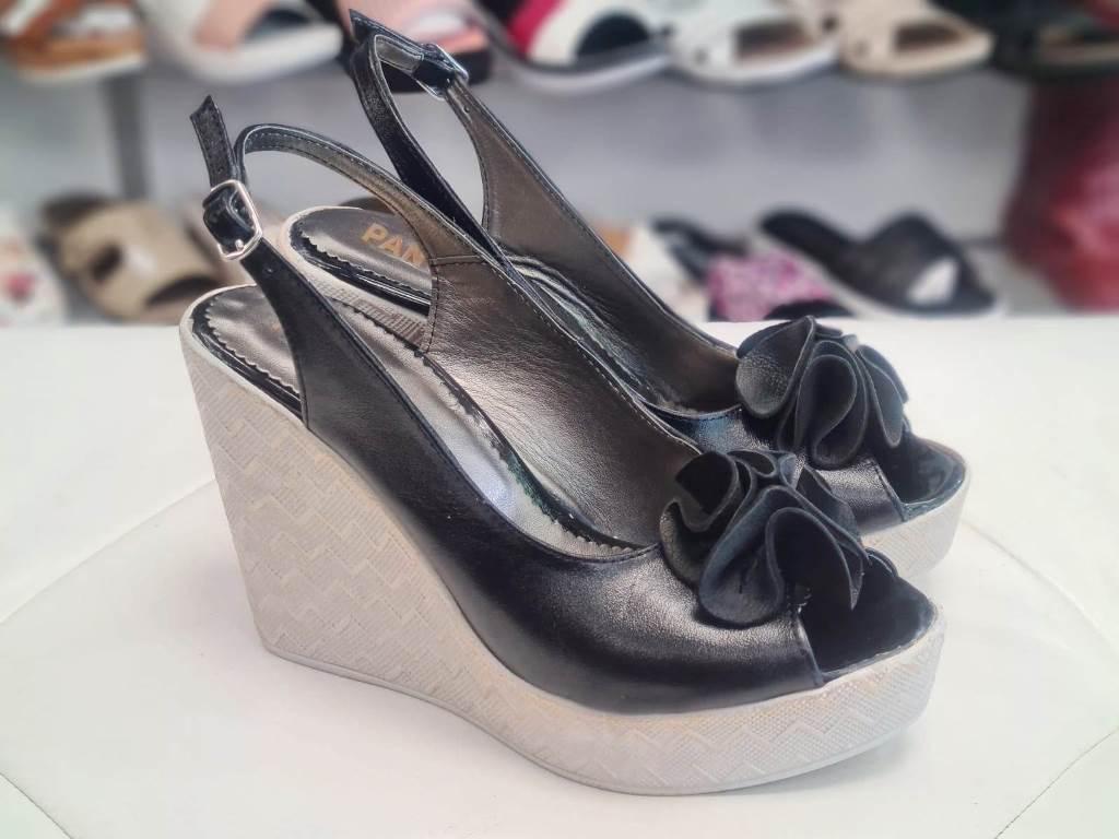 Sandale dama piele negre Ana2