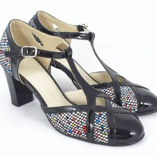 Sandale dama piele negre Caliope