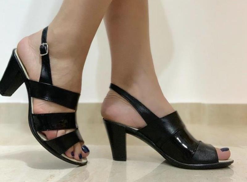 Sandale dama piele negre Carmen