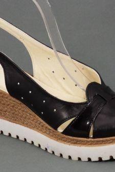Sandale dama piele negre Darya