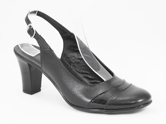 Sandale dama piele negre Dorina