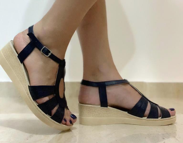 Sandale dama piele negre Florina