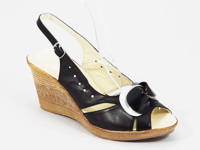 Sandale dama piele negre Janna