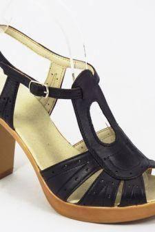 Sandale dama piele negre Laura