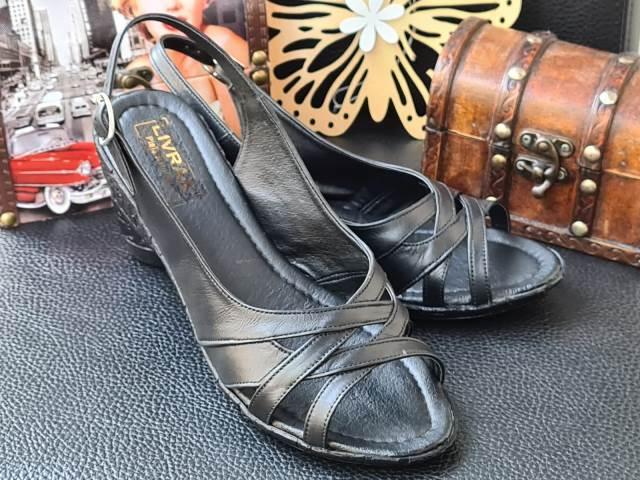 Sandale dama piele negre Livia