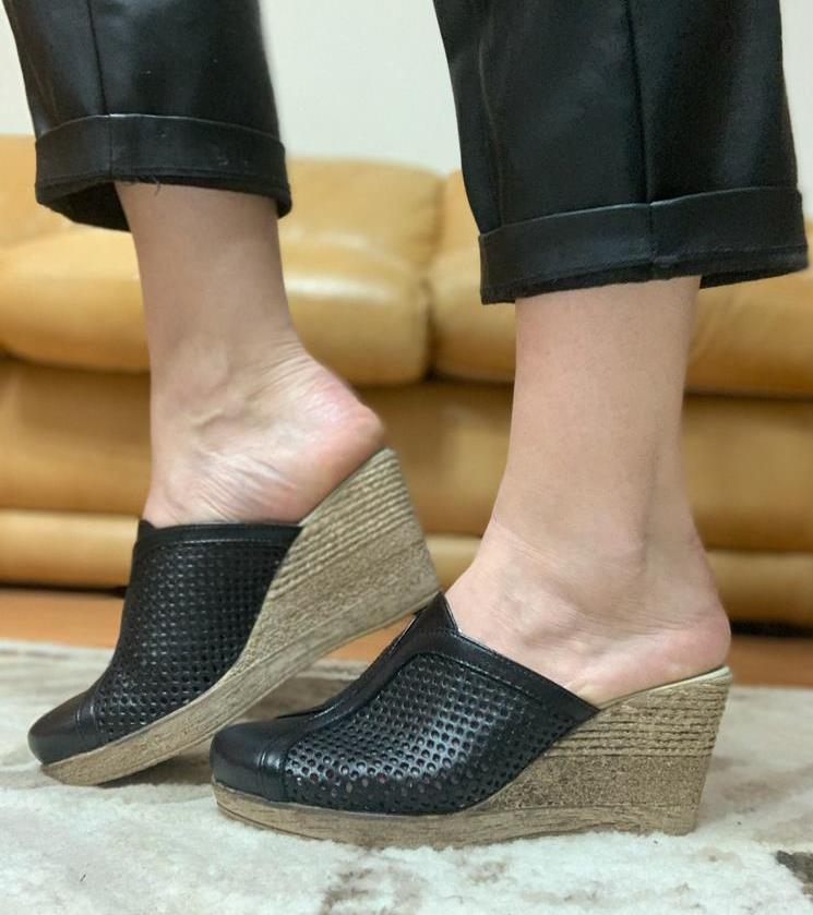 Sandale dama piele negre Valentina