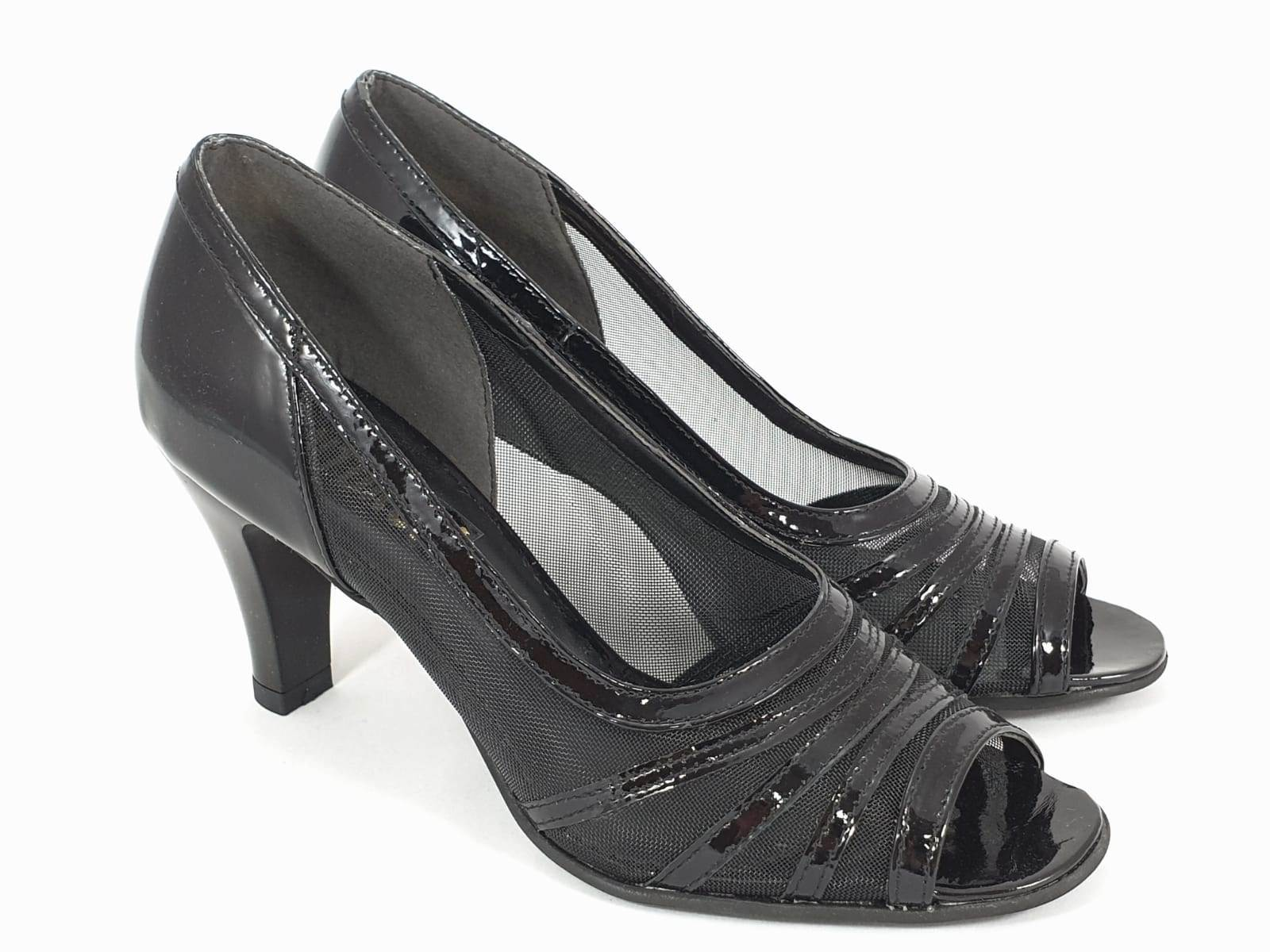 Sandale dama piele negre Vania