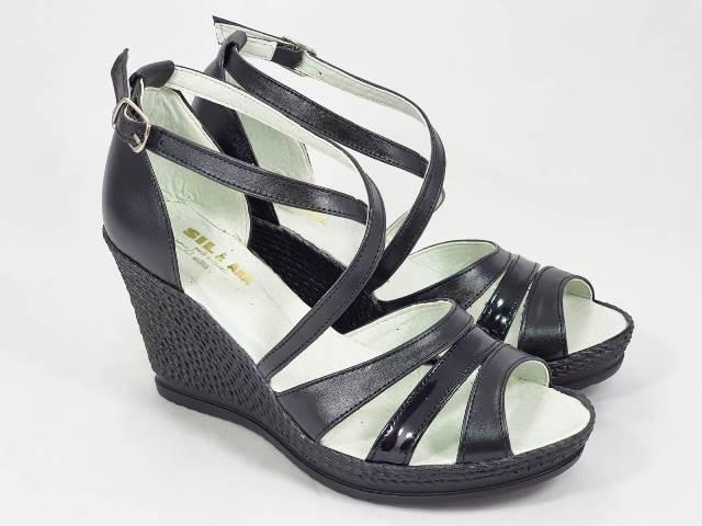 Sandale dama piele negre Zanna