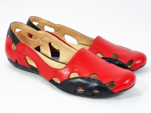 Sandale dama piele rosii Ana