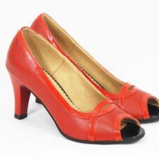 Sandale dama piele rosii Olga