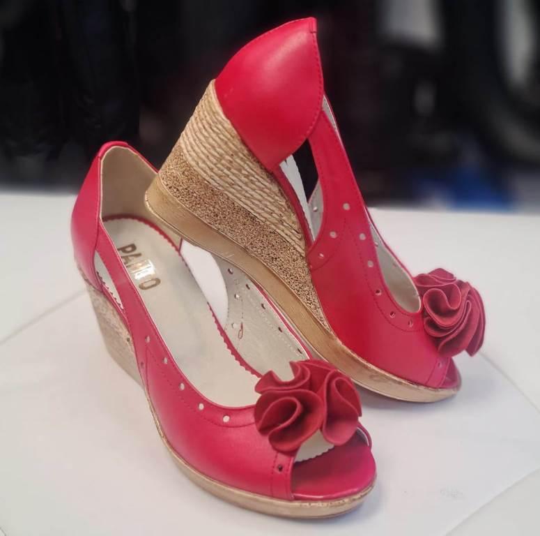 Sandale dama piele rosii Romyna