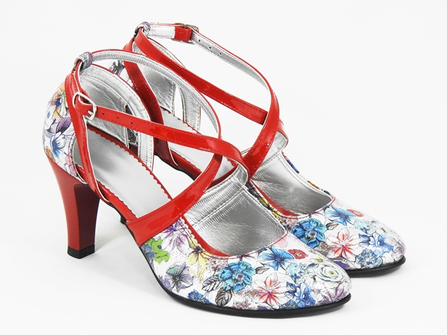 Sandale dama piele rosii Teodosia