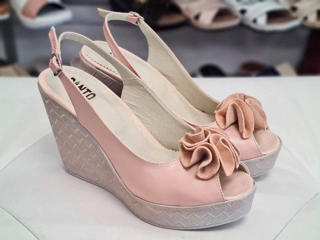 Sandale dama piele roz Ana2