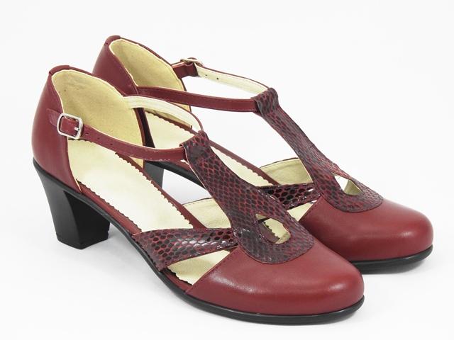 Sandale dama piele visinii Olga