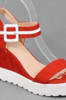 Sandale dama rosii Loreta