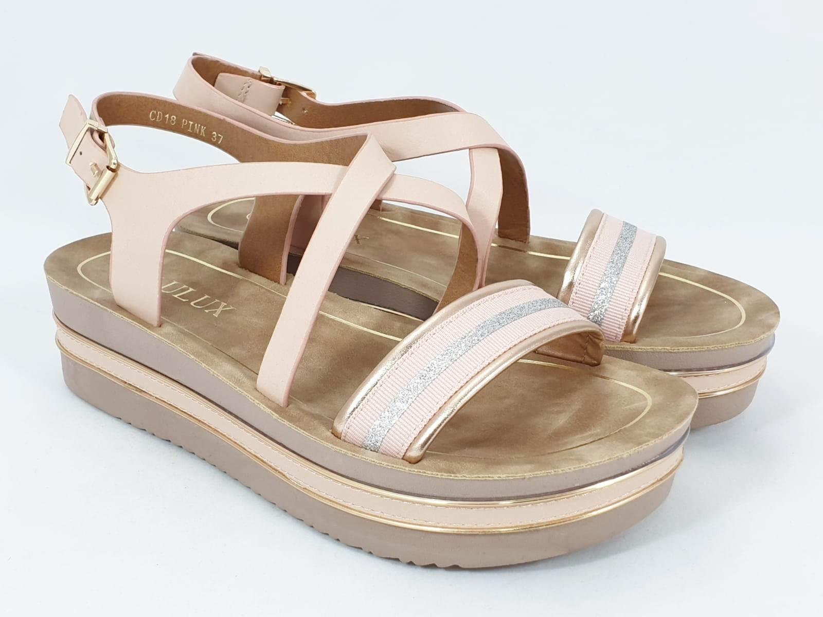 Sandale dama roz Estella