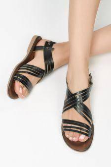 Sandale piele naturala Aruba Negre
