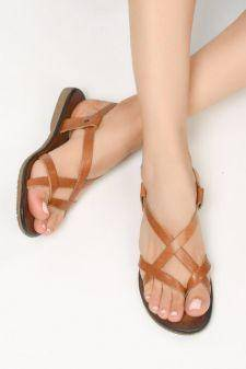 Sandale piele naturala Asco Maro