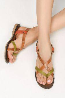 Sandale piele naturala Asco Multicolore