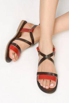 Sandale piele naturala Soledad M3 Rosii
