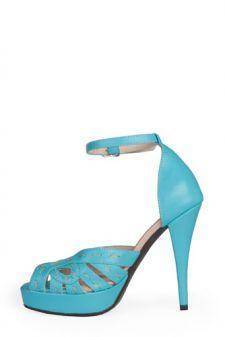 Sandale turquoise din piele naturala 0804-413