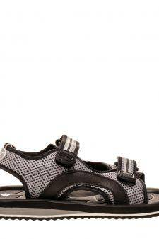 Sandale unisex Genes negru cu gri