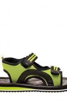 Sandale unisex Genes negru cu verde